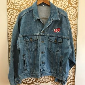 Vintage Showtime 90s Denim Jean Jacket Embroidered